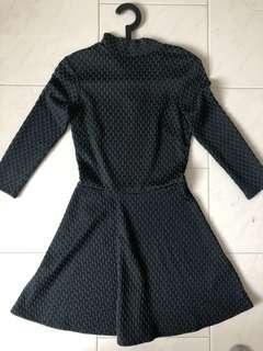 H&M Green and Black dress