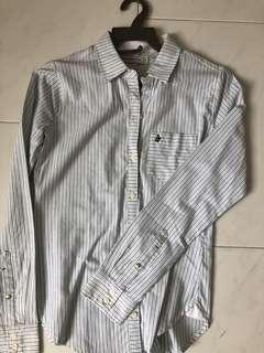 Abercrombie Striped Oxford Shirt