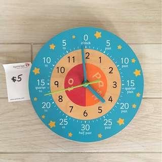ELC Wooden Children's Clock