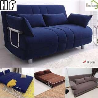 Sofa bed/Cloth sofa/120cm sofa/Brown,Brue,Grey is stock