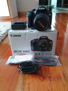 Camera Canon EOS 500D complete set free bag