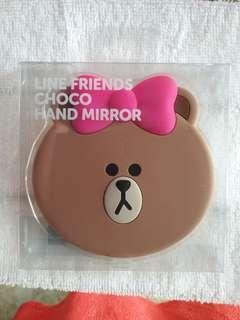 Line friends choco hand mirror