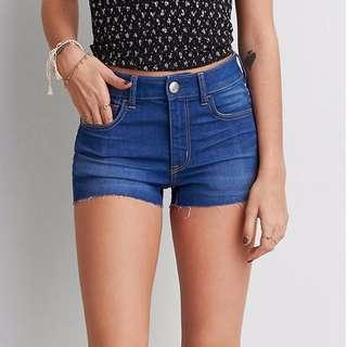 🚚 AEO Denim Hi-Rise Shortie Shorts (Sparkling Sapphire)