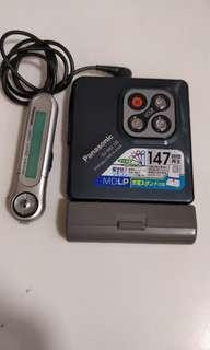 Panasonic SJ-MJ10.  新净MD/MDLP完全正常播放機包電池盒