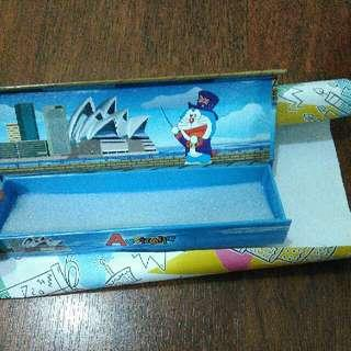 New Kotak Pensil Doraemon Magnet Pencil Case