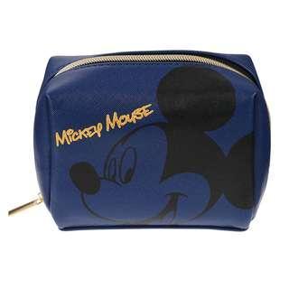 🌟日本Disney store直送🌟米奇 Mickey Mouse 公仔 pu皮 化妝袋 筆袋 收納包 pouch 藍色