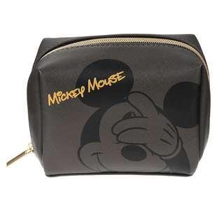 🌟日本Disney store直送🌟米奇 Mickey Mouse 公仔 pu皮 化妝袋 筆袋 收納包 pouch 黑色