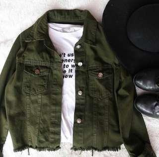 Army jacket fringe