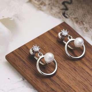 (PO) K-Drama: What is Wrong with Secretary Kim Pearl Ring Earrings