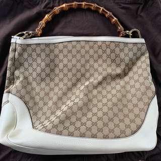 Gucci Brown Monogram Bamboo Bag