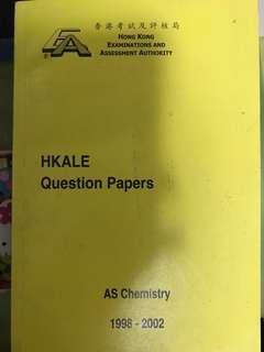 HKALE AS CHEMISTRY QUESTION PAPER
