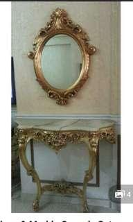Table . Marble Top Console Set