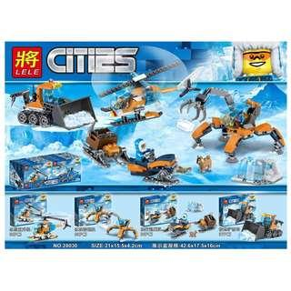 LELE™ 28030 City Arctic 4in1 Vehicle Set