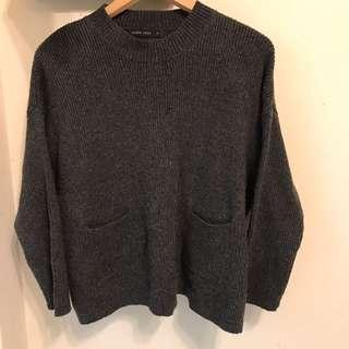 🚚 Queen Shop灰色寬鬆毛衣