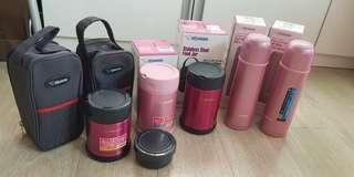 🚚 Zojirushi Stainless Steel Food Jar and Vacuum Bottle