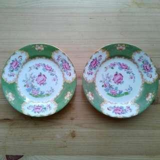 2 England Porcelain Ceramic Plate