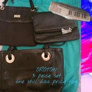 Oroton genuine leather