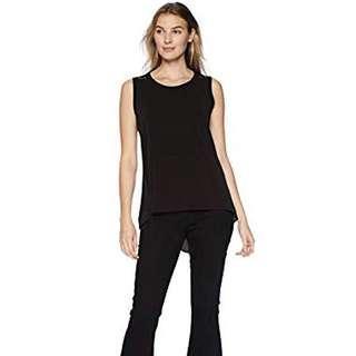 Women's Sleeveless Round Neck Blouse Shirt - Black