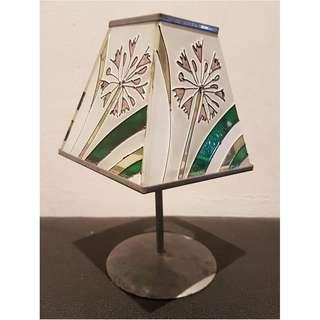 Stained Tinted Glass Tealight Holder