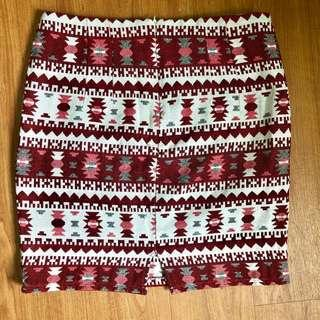 Christmas Themed Sweet Red and White Skirt