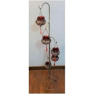 Floor Hanging Tealight Candle Lantern Holder Stand
