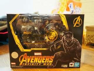 全新 shf marvel avengers infinity war Black Panther & effect , 復仇者 無限之戰 黑豹 連 特效套裝