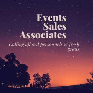Events Sales Associates / Full Time & Part Time