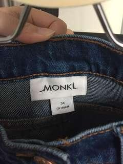 Monks denim skirt
