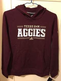 😍Adidas Hoodie😍NCAA Texas Aggies Fleece Hoodie Youth Large 深紅色連帽衛衣