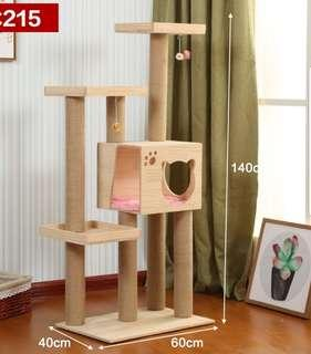 *INSTOCK* Premium Quality Cat Condo Solid wood Cat Tree Design 215 cat playground scratch post board not cat food cage litter tent pet bed cushion bowl cage