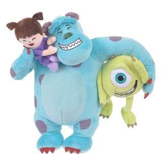 🌟日本Disney store直送🌟怪獸公司Monsters, Inc 毛毛sulley 大眼仔Mike 布Boo 公仔