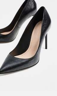 Black Metallic Heels