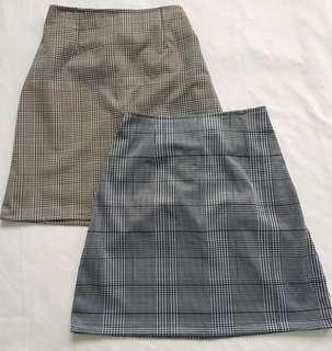 Plaid Skirt (Garterized)