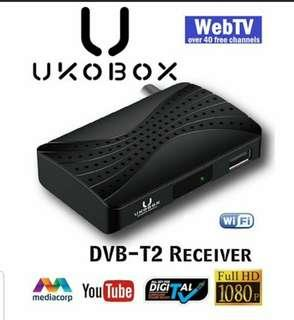 ★IMDA Approved and Local Warranty★ UKOBOX DVB-T2 Receiver / DVB-T2 Tunner / dvb t2 box / Digital TV Tuner/ Digital TV Active Antenna