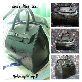 Love Bag (Jasmin, Black, Gloss) Brand New