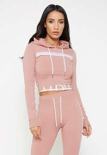 MDV Mesh Panel Fitted Hoodie and Joggers Set