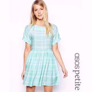 🚚 ASOS Petite Mint Gingham Dress