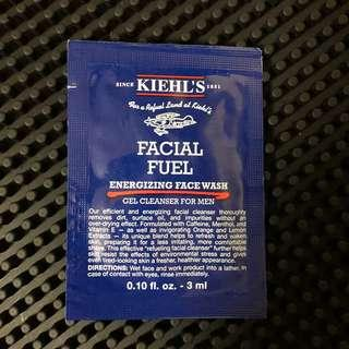 Kiehl's Facial Fuel Energizing Face Wash Gel Cleanser For Men 3ml