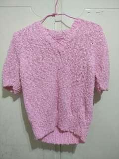 🚚 粉色針織外搭毛衣#一百均價