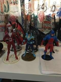 Assorted DC action figures