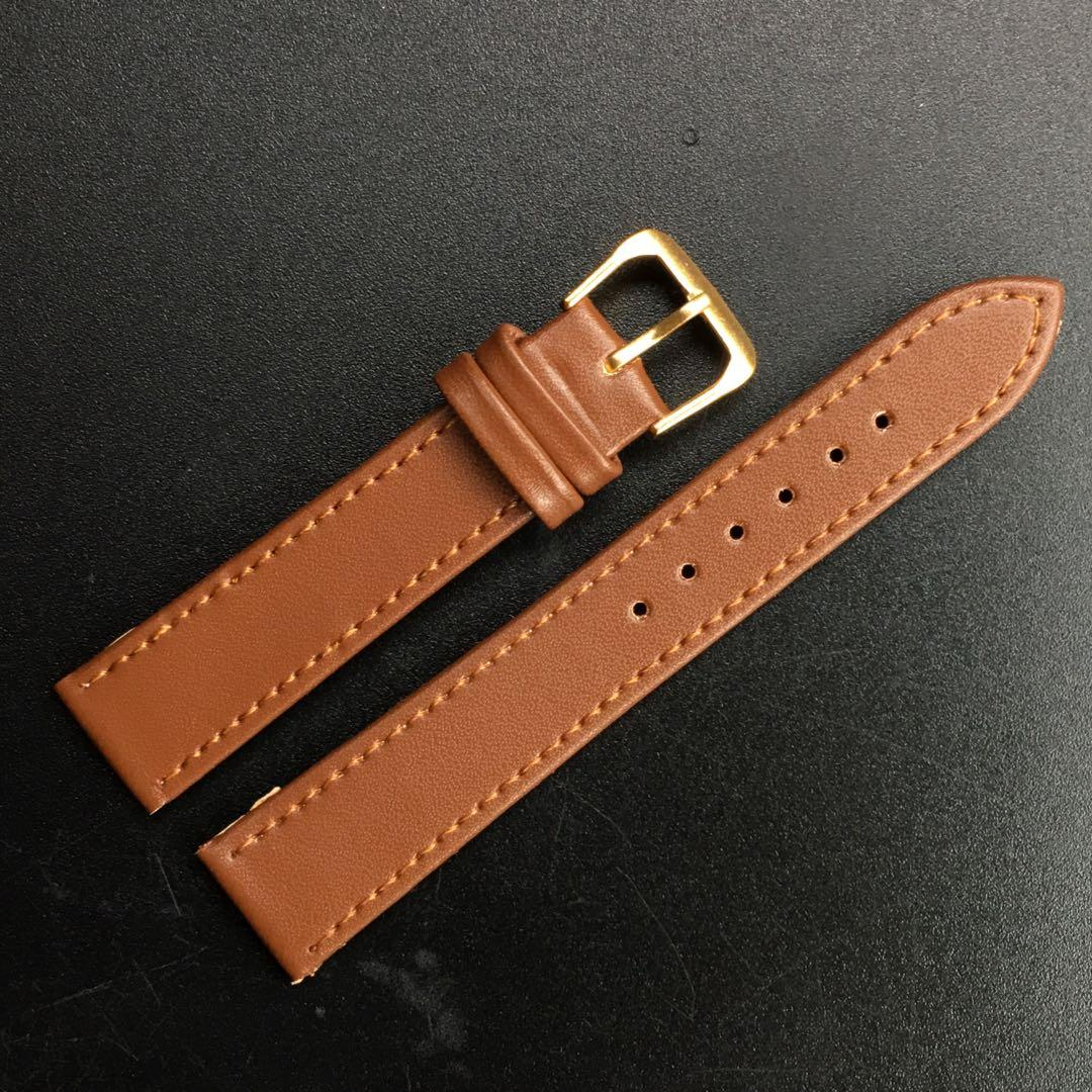18mm Brown Leather Strap