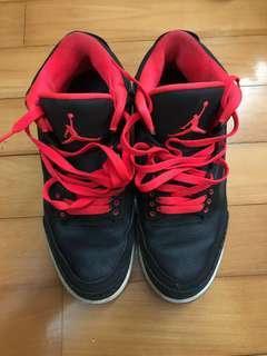 Air Jordan in black leather