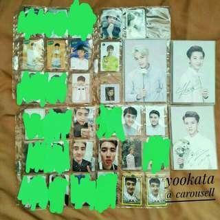 EXO OFFICIAL PHOTOCARDS & POSTCARDS