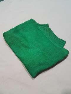 [Instock] Mock Neck Knit Top in Green