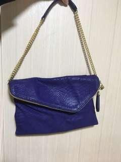 Henri Bendel Purple Blue Deb handbag