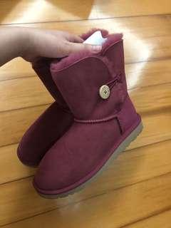 UGG snow boots in purple pink in UK3