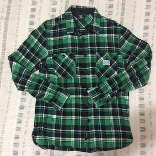 Fingercroxx綠色格仔衫