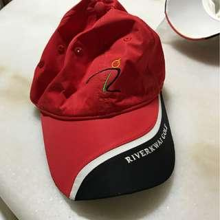 Golf Cap Red and Black