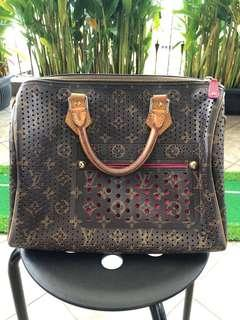 RARE! Authentic Louis Vuitton Limited Edition Fuchsia Monogram Perforated Speedy 30 bag