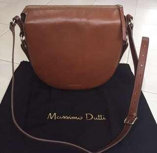 Massimo Dutti sling bag brown leather